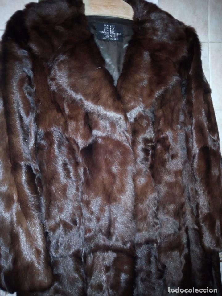 Antigüedades: Magnifico abrigo de vison. - Foto 7 - 147775618