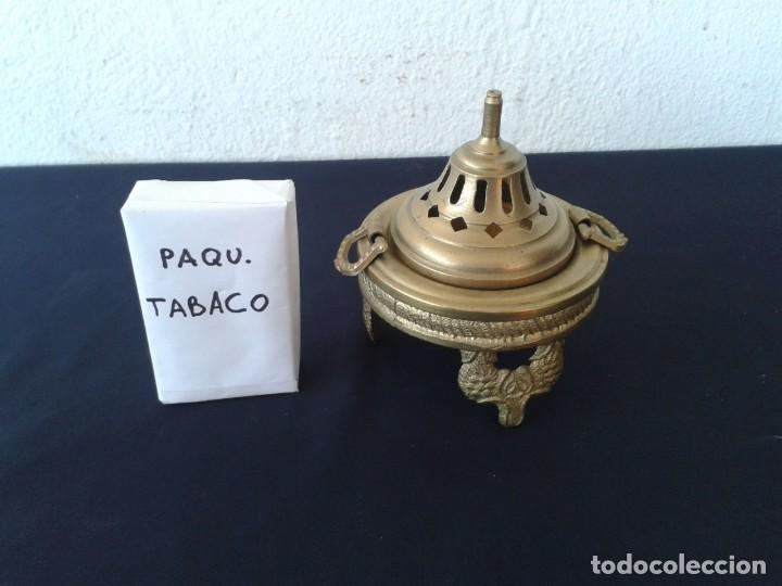 Antigüedades: BRASERO BRONCE-LATON INCENSIARIO - Foto 2 - 147776894