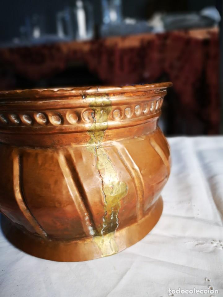 Antigüedades: Jardinera de cobre. Mediados siglo XX. - Foto 4 - 147787986