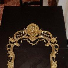 Antigüedades: ESPECTACULAR MARCO ESPEJO BRONCE ANTIGUO-98 X 60 CM ART DECO. Lote 147789826
