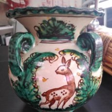 Antigüedades: PUENTE DEL ARZOBISPO, ANTIGUO JARRÓN DE 4 ASAS. Lote 147817146