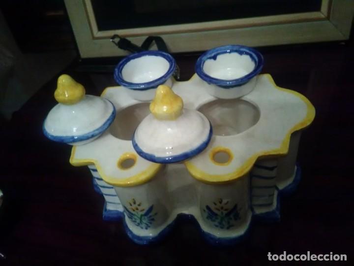 Antigüedades: PRECIOSO TINTERO ALCORA. - Foto 5 - 147834762