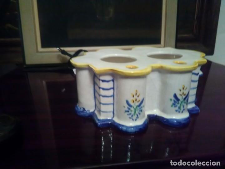 Antigüedades: PRECIOSO TINTERO ALCORA. - Foto 6 - 147834762