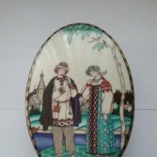 Antigüedades: JOYERO EN PORCELANA VILLEROY& BOCH THE RUSSIAN FAIRY TALES, THE SNOW MAIDEN.. Lote 147838434