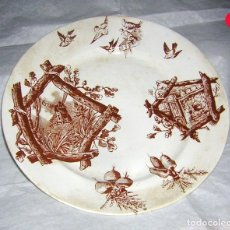 Antigüedades: PLATO ANTIGUO DE CEÑAL Y COM. OVIEDO. Lote 147844750