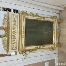 Antigüedades: ESPEJO MEDIADOS S. XVIII. TODO ORIGINAL SOLO PRESENTA DOS FALTAS MIRAR FOTOS FRANCES. M. 130 X 70 CM. Lote 147848254