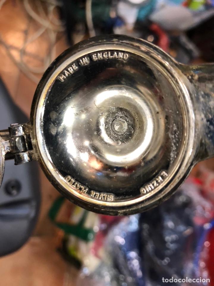 Antigüedades: Jarra inglesa de cristal y plata - Foto 4 - 147861837