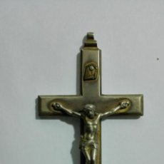 Antigüedades: CRUCIFIJO LATON, MEDIDAS 7,3 X 3,7 CM. Lote 147864806