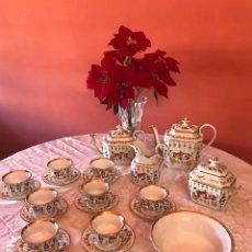 Antigüedades: JUEGO DE CAFÉ DE 8 SERVICIOS PORCELANA VIEUX PARIS. S.XIX. Lote 147867130
