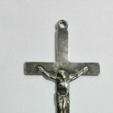 Antigüedades: CRUCIFIJO DE PLATA, MEDIDAS 6 X 3 CM. Lote 147867366