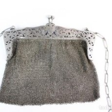 Antigüedades: BOLSO DE PLATA DE FINES DEL S XIX ART NOUVEAU . Lote 147868298