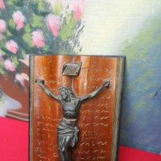 Antigüedades: ANTIGUO CRUCIFICADO EN BIBLIA. Lote 147871466