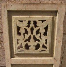 Antigüedades: VENTANA TALLADA DE MADERA. Lote 147874246