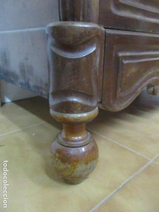 Antigüedades: Antigua Cómoda Isabelina (Ditada) - Madera de Caoba y Raíz - Mármol - S. XIX - Foto 4 - 147898878