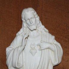 Antigüedades: PRECIOSA BENDITERA DE BISCUIT-JESUCRISTO-PP SG XX.. Lote 147899042