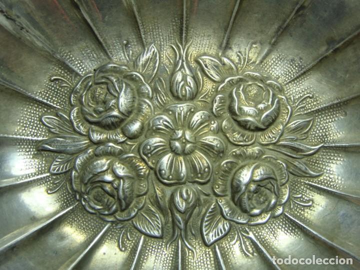 Antigüedades: Bandeja de Plata Maciza. Con contrastes. - Foto 4 - 147900770