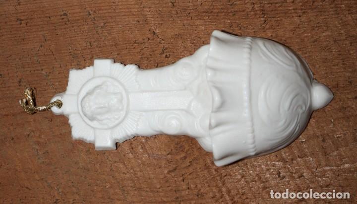 Antigüedades: BENDITERA DE BISCUIT-JESUCRISTO-PPS SG XX. - Foto 5 - 147900906