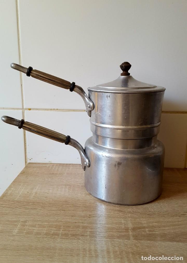 Antigüedades: olla para cocinar al vapor - Foto 2 - 147904890