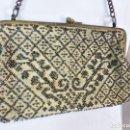 Antigüedades: BOLSO DE DAMA BORDADO A MANO EMBROIDERY BEADS CRISTALES EN MOSTACILLA. S XIX . Lote 147911182
