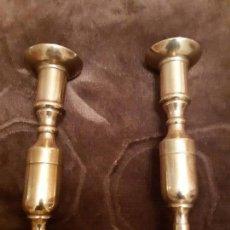 Antigüedades: PAREJA DE CANDELABROS DEL XIX. Lote 146155726