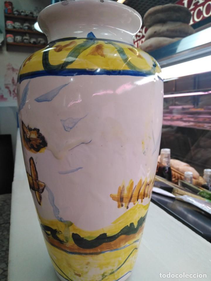 Antigüedades: Triana Siglo XIX ceramica popular jarrón bucaro - Foto 3 - 147920090