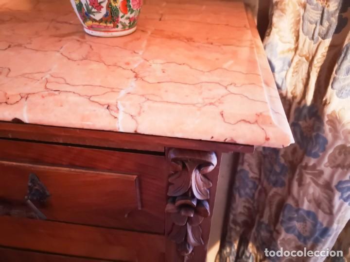 Antigüedades: IMPRESIONANTE APARADOR DE CEDRO Y CAOBA. MODERNISTA PRINCIPIOS S XX - Foto 8 - 147928782
