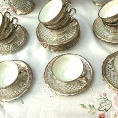 Antigüedades: JUEGO ANTIGUO DE CAFÉ DE PORCELANA Y PLATA BAVARIA. Lote 147937422