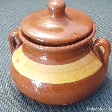 Antigüedades: ALFARERIA CASTELLANA: AZUCARERO O TARRO PARA MIEL.TAJUECO (SORIA). Lote 147950090