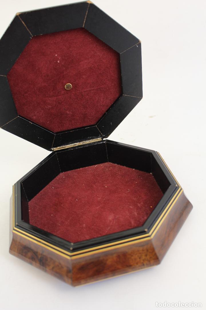 Antigüedades: caja joyero con barco en plata de ley 925milesimas - Foto 3 - 161067453