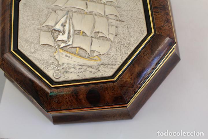 Antigüedades: caja joyero con barco en plata de ley 925milesimas - Foto 6 - 161067453