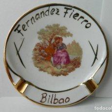 Antigüedades: PLATO CENICERO DE FERNANDEZ FIERRO - BILBAO. Lote 147961462