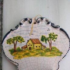 Antigüedades: ANTIGUA BENDITERA PUENTE DEL ARZOBISPO. Lote 147963486
