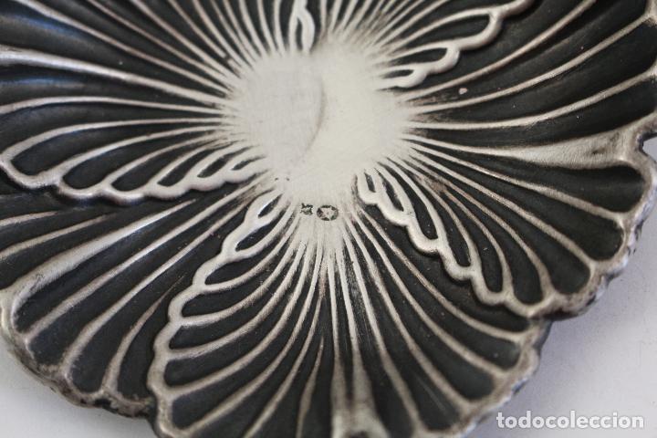 Antigüedades: bandeja en plata maciza de ley 925milesimas - Foto 3 - 161064560