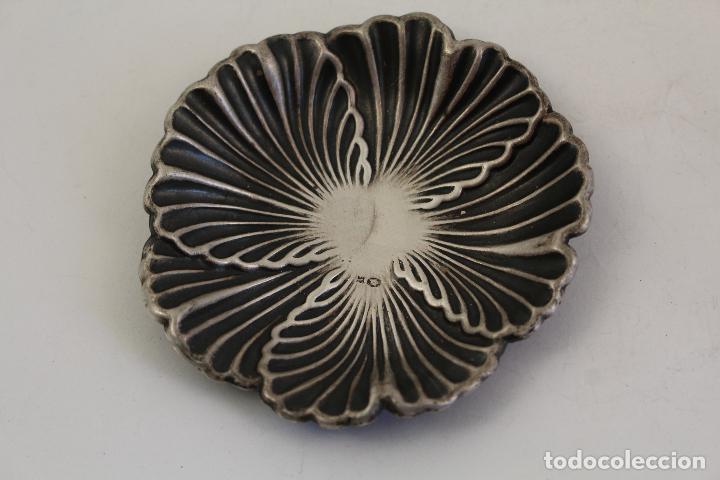 Antigüedades: bandeja en plata maciza de ley 925milesimas - Foto 4 - 161064560