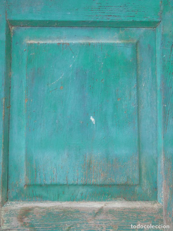 Antigüedades: ANTIGUA HOJA DE VENTANA, CUARTILLO DE MADERA DE PINO, CON SUS HERRAJES DE HIERRO. PARA RESTAURAR. - Foto 11 - 148002806