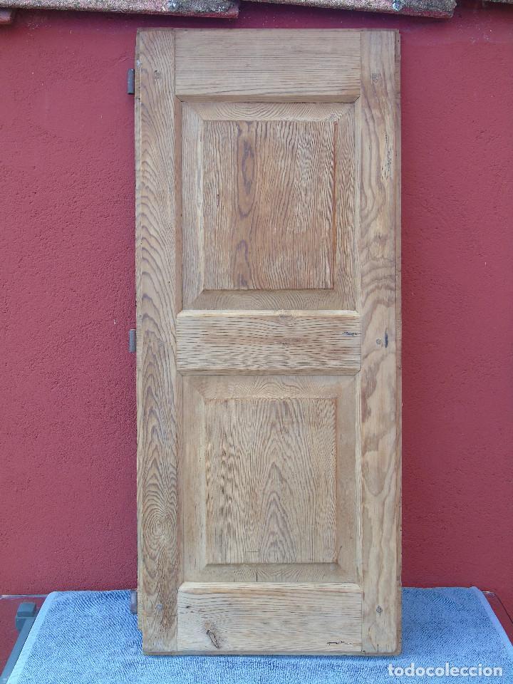 Antigüedades: ANTIGUA HOJA DE VENTANA, CUARTILLO DE MADERA DE PINO, CON SUS HERRAJES DE HIERRO. PARA RESTAURAR. - Foto 16 - 148002806