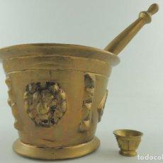 Antigüedades: ANTIGUO Y PRECIOSO ALMIREZ-MORTERO EN BRONCE DE GRAN TAMAÑO.EXCELENTE PIEZA DE DECORACION. Lote 148043106