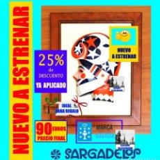 Antigüedades: SARGADELOS MÁSCARA / CARETA NÚMERO 2 - PANTALLA XINZO DE LIMIA - CON MARCO DE MADERA NOBLE - NUEVA. Lote 148048494