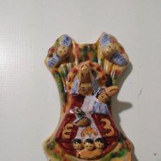 Antigüedades: ANTIGUA BENDITERA VIRGEN DE COVADONGA. Lote 148049490