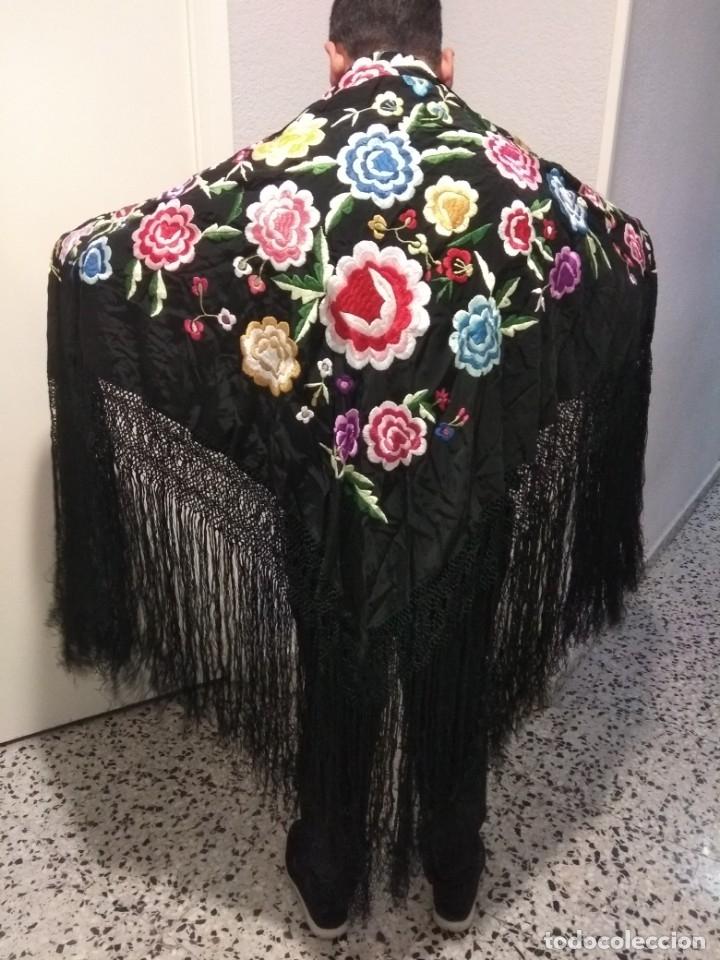 Antigüedades: precioso manton de manila antiguo - Foto 6 - 156786364