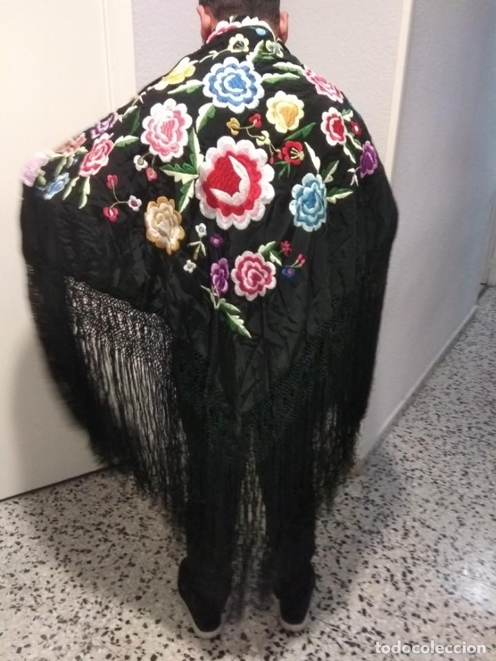 Antigüedades: precioso manton de manila antiguo - Foto 7 - 156786364