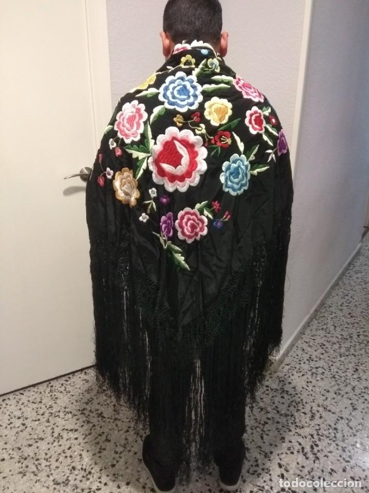 Antigüedades: precioso manton de manila antiguo - Foto 8 - 156786364