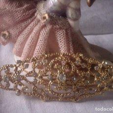 Antigüedades: ~~~~ PRECIOSO BROCHE CON PEDRERIA, IDEAL SUJETAR MANTILLA O MANTON, MIDE 8 CM. ~~~~. Lote 148054910