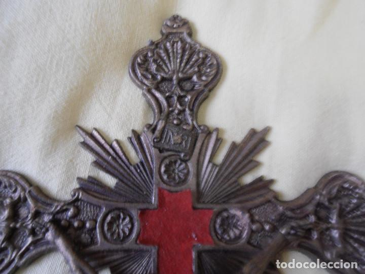 Antigüedades: CRUCIFIJO DE PARED - CRISTO DE BRONCE - Foto 8 - 148063462