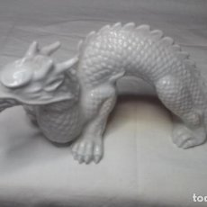 Antigüedades: DRAGON BLANCO JAPONÉS DE MATERIAL CERÁMICO (CON ETIQUETA MADE IN JAPAN) LOTE MUY RARO. Lote 148072510