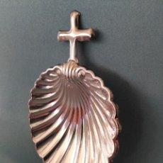 Antigüedades: CONCHA BAUTISMAL DE ALPACA. Lote 148084534