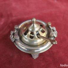 Antigüedades: BRASERO MINIATURA EN BRONCE CON SU PALA. Lote 148084658