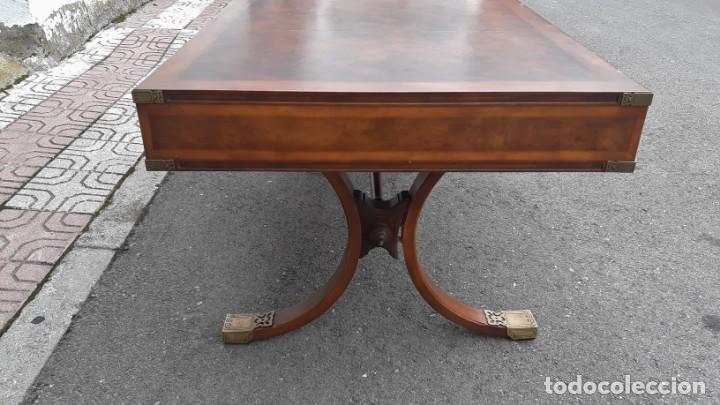Antigüedades: Mesa de despacho antigua estilo regencia. Escritorio antiguo estilo inglés. Mueble estilo barco - Foto 8 - 148087686