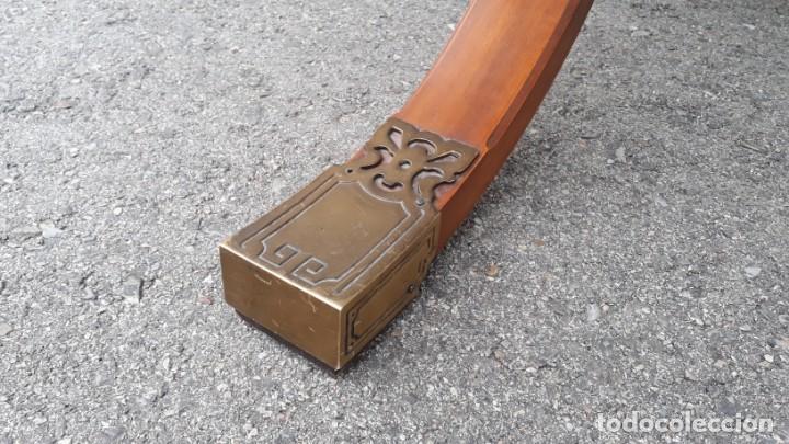Antigüedades: Mesa de despacho antigua estilo regencia. Escritorio antiguo estilo inglés. Mueble estilo barco - Foto 17 - 148087686