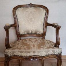 Butaca sillon estilo luis xv madera maciza d vendido - Cuanto cuesta tapizar una butaca ...